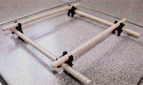 Выставление стеклопластиковой арматуры